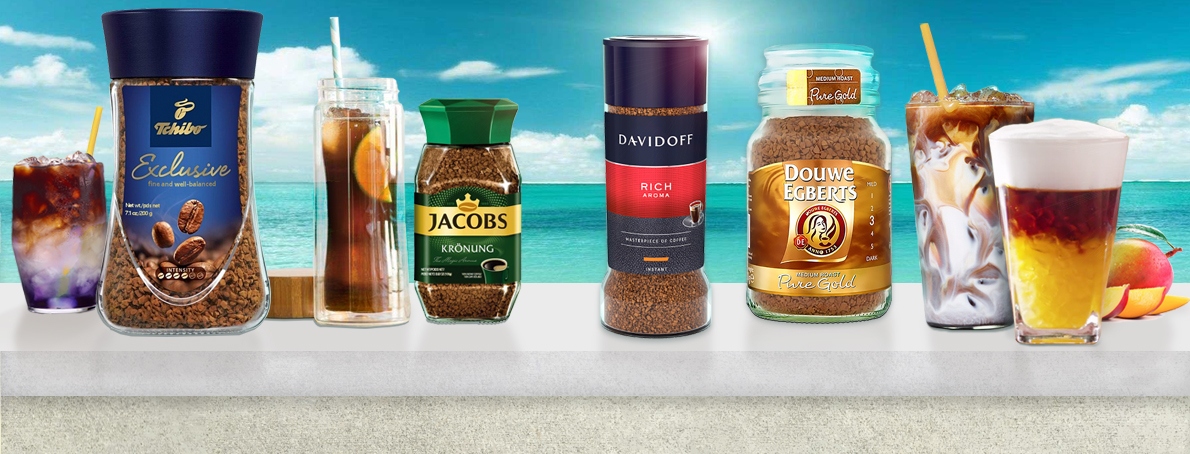 Douwe Egberts, Dallmayr, Tchibo, Jacobs, Caffe Vergnano World Famous Brands of Coffee