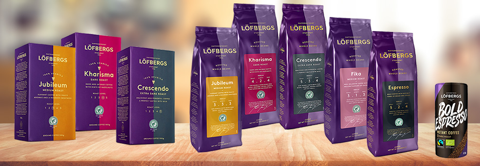 Edited shot of Lofbergs product lineup